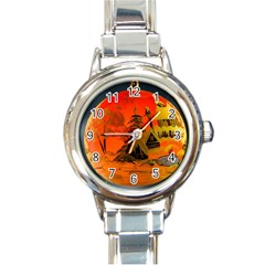 Christmas Bauble Round Italian Charm Watch