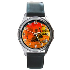Christmas Bauble Round Metal Watch