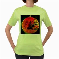 Christmas Bauble Women s Green T-Shirt