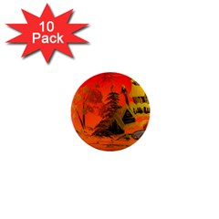 Christmas Bauble 1  Mini Buttons (10 pack)