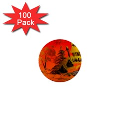 Christmas Bauble 1  Mini Buttons (100 pack)