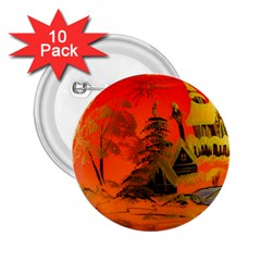 Christmas Bauble 2.25  Buttons (10 pack)