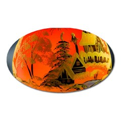 Christmas Bauble Oval Magnet