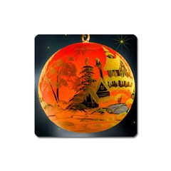 Christmas Bauble Square Magnet