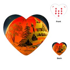 Christmas Bauble Playing Cards (Heart)