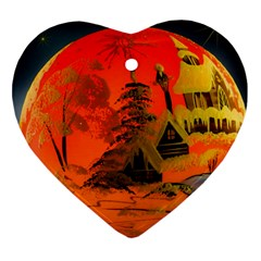 Christmas Bauble Heart Ornament (Two Sides)