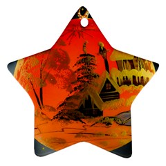 Christmas Bauble Star Ornament (Two Sides)