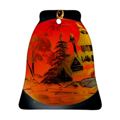 Christmas Bauble Bell Ornament (Two Sides)