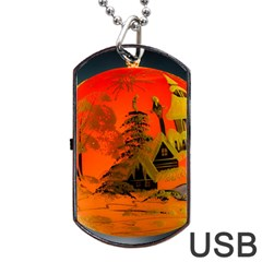 Christmas Bauble Dog Tag USB Flash (Two Sides)