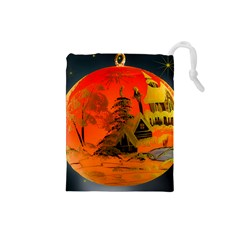 Christmas Bauble Drawstring Pouches (Small)