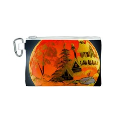 Christmas Bauble Canvas Cosmetic Bag (S)