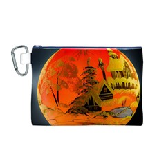 Christmas Bauble Canvas Cosmetic Bag (m)