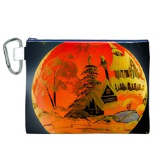 Christmas Bauble Canvas Cosmetic Bag (xl)