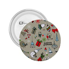 Christmas Xmas Pattern 2.25  Buttons
