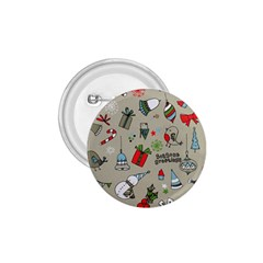 Christmas Xmas Pattern 1 75  Buttons