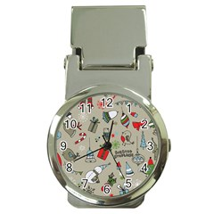 Christmas Xmas Pattern Money Clip Watches