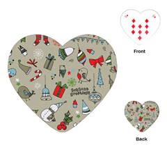 Christmas Xmas Pattern Playing Cards (heart)