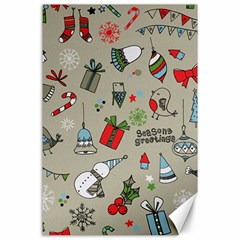 Christmas Xmas Pattern Canvas 24  x 36