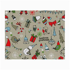 Christmas Xmas Pattern Small Glasses Cloth (2-Side)