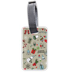 Christmas Xmas Pattern Luggage Tags (One Side)
