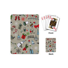 Christmas Xmas Pattern Playing Cards (mini)
