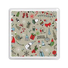 Christmas Xmas Pattern Memory Card Reader (Square)
