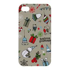 Christmas Xmas Pattern Apple iPhone 4/4S Hardshell Case