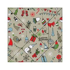 Christmas Xmas Pattern Acrylic Tangram Puzzle (6  x 6 )