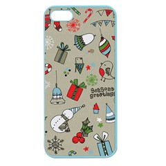 Christmas Xmas Pattern Apple Seamless iPhone 5 Case (Color)