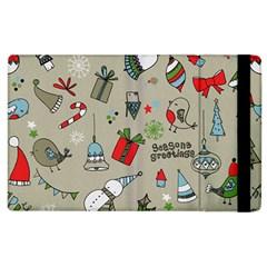 Christmas Xmas Pattern Apple Ipad 3/4 Flip Case