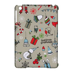Christmas Xmas Pattern Apple Ipad Mini Hardshell Case (compatible With Smart Cover)