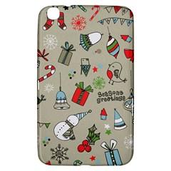 Christmas Xmas Pattern Samsung Galaxy Tab 3 (8 ) T3100 Hardshell Case