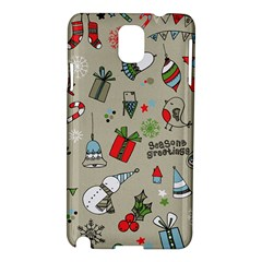 Christmas Xmas Pattern Samsung Galaxy Note 3 N9005 Hardshell Case