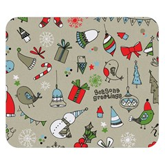 Christmas Xmas Pattern Double Sided Flano Blanket (Small)