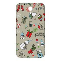 Christmas Xmas Pattern Samsung Galaxy Mega I9200 Hardshell Back Case