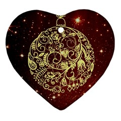 Christmas Bauble Ornament (heart)