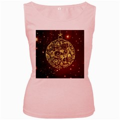Christmas Bauble Women s Pink Tank Top