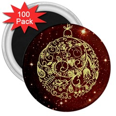 Christmas Bauble 3  Magnets (100 pack)
