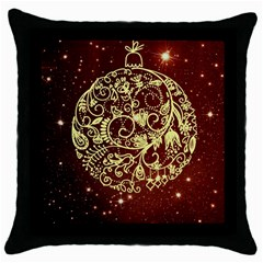 Christmas Bauble Throw Pillow Case (Black)
