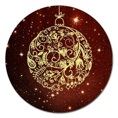 Christmas Bauble Magnet 5  (Round)
