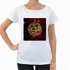 Christmas Bauble Women s Loose-Fit T-Shirt (White)