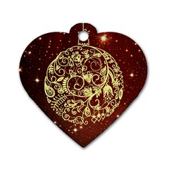 Christmas Bauble Dog Tag Heart (One Side)