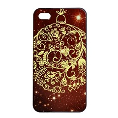 Christmas Bauble Apple Iphone 4/4s Seamless Case (black)