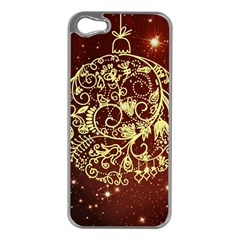 Christmas Bauble Apple Iphone 5 Case (silver)