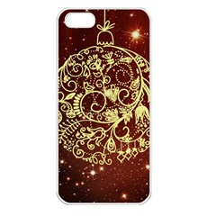 Christmas Bauble Apple iPhone 5 Seamless Case (White)