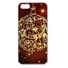 Christmas Bauble Apple Seamless iPhone 5 Case (Clear)