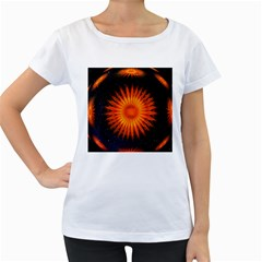 Christmas Card Ball Women s Loose-Fit T-Shirt (White)