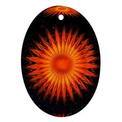 Christmas Card Ball Ornament (Oval)
