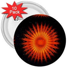 Christmas Card Ball 3  Buttons (10 pack)