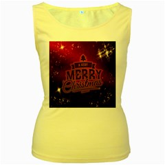 Christmas Contemplative Women s Yellow Tank Top